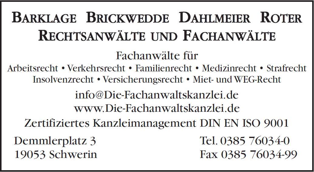 Die Fachanwälte in Schwerin