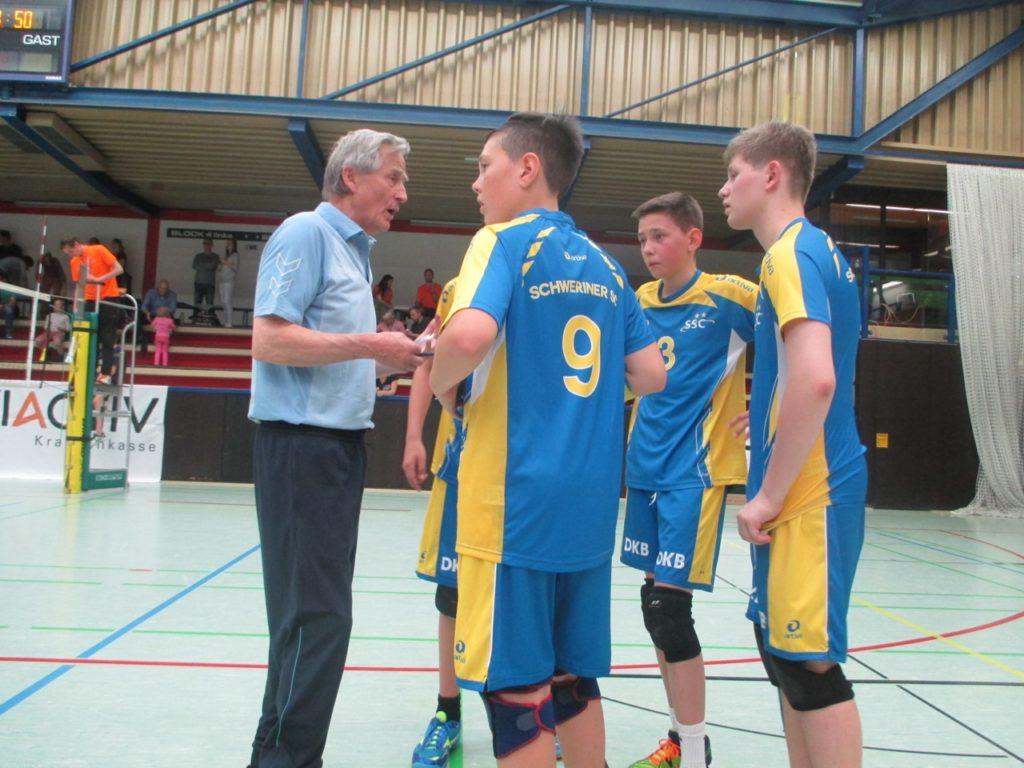© M. Sandner   | Trainer Dieter Melzer mit seinen Jungs der Altersklasse U14